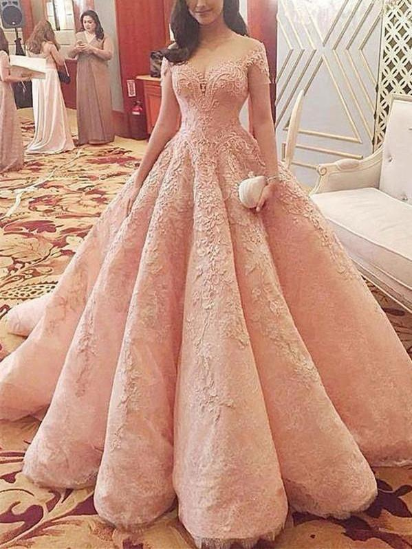 BohoProm prom dresses A-line Off-Shoulder Floor-Length Lace Elegant Prom Dresses HX00136
