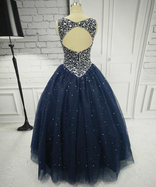 BohoProm prom dresses Ball Gown Scoop Neck Floor-Length Tulle Pageant Prom Dresses HX0027