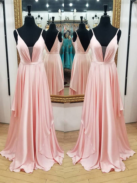 BohoProm prom dresses Outstanding Chiffon Spaghetti Straps Neckline A-line Prom Dresses With Pleats PD130