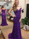 BohoProm prom dresses Trumpet/Mermaid Off-Shoulder Sweep Train  Applique Rhine Stone Prom Dresses 3024
