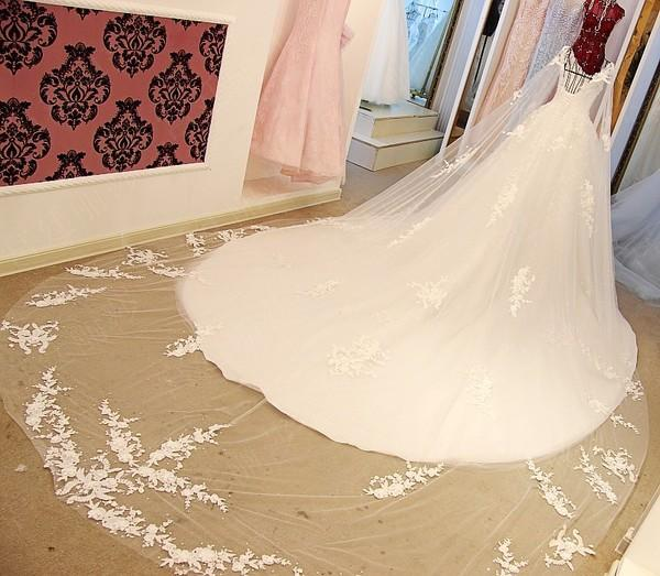 BohoProm Wedding Dresses A-line Sweetheart Cathedral Train Tulle Rhine Stone Lace Wedding Dresses ASD2632