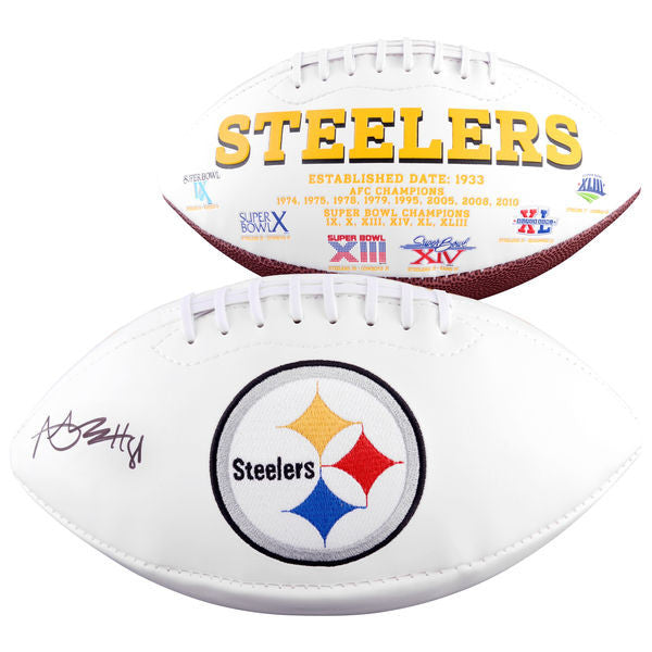 more photos 40493 a126c Autographed Pittsburgh Steelers Antonio Brown Fanatics Authentic White  Panel Football