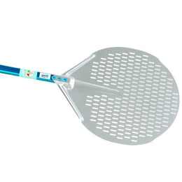GI Metal Aluminium Round Perforated Pizza Peel