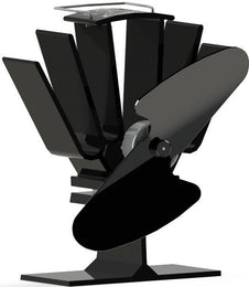 Ecofan 815 Original Mini Wood-Stove Fan - All Black