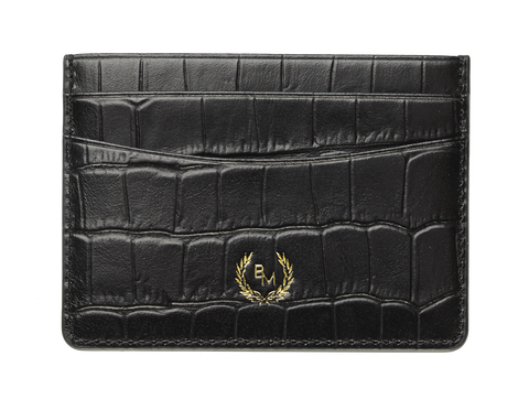 Bogmar Credit Card Holder - Imperial Black Croco