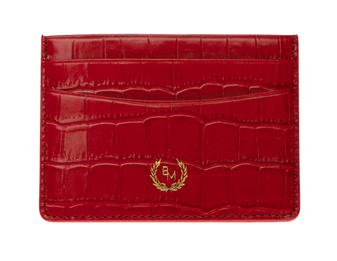 Bogmar Credit Card Holder - Emperor Red Croco