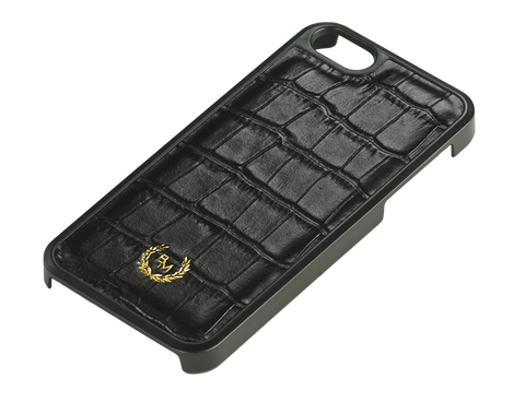 Bogmar iPhone SE/5/5s Case - Imperial Black Croco