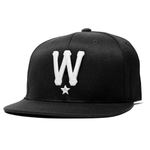 Black & White W Star Snapback