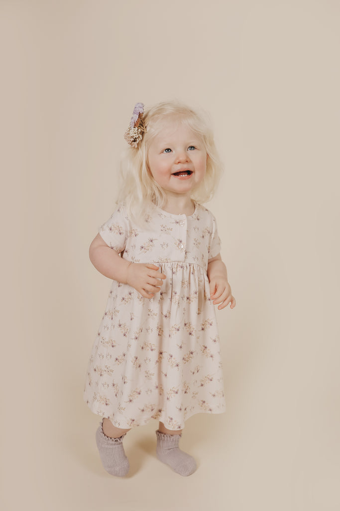 Short Sleeve Dress - Sweet Pea Floral