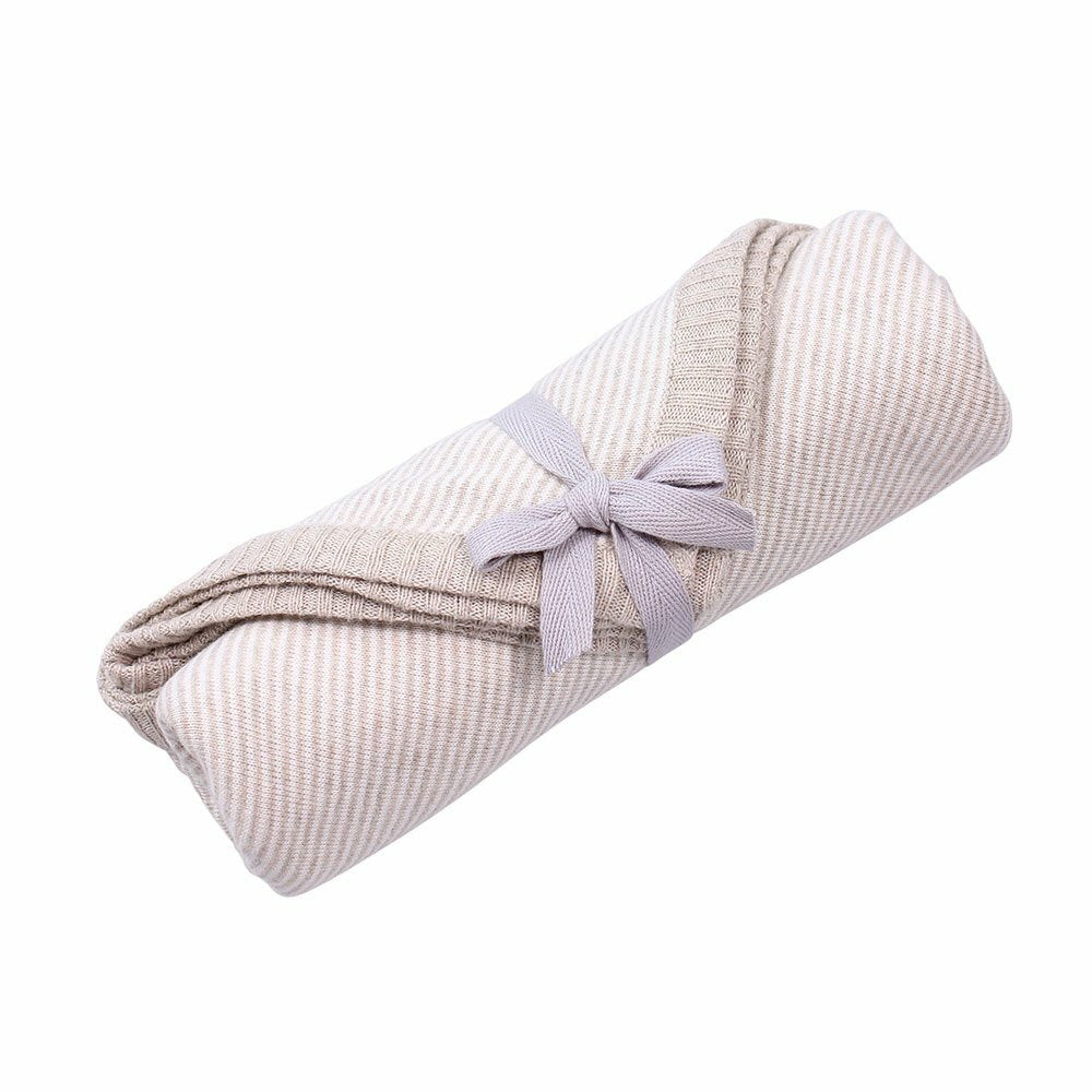 Linus Cotton Jersey Newborn Wrap - Natural