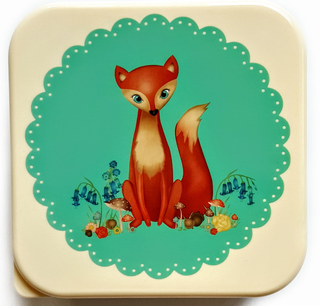 Vintage Inspired Lunch Box - Fox
