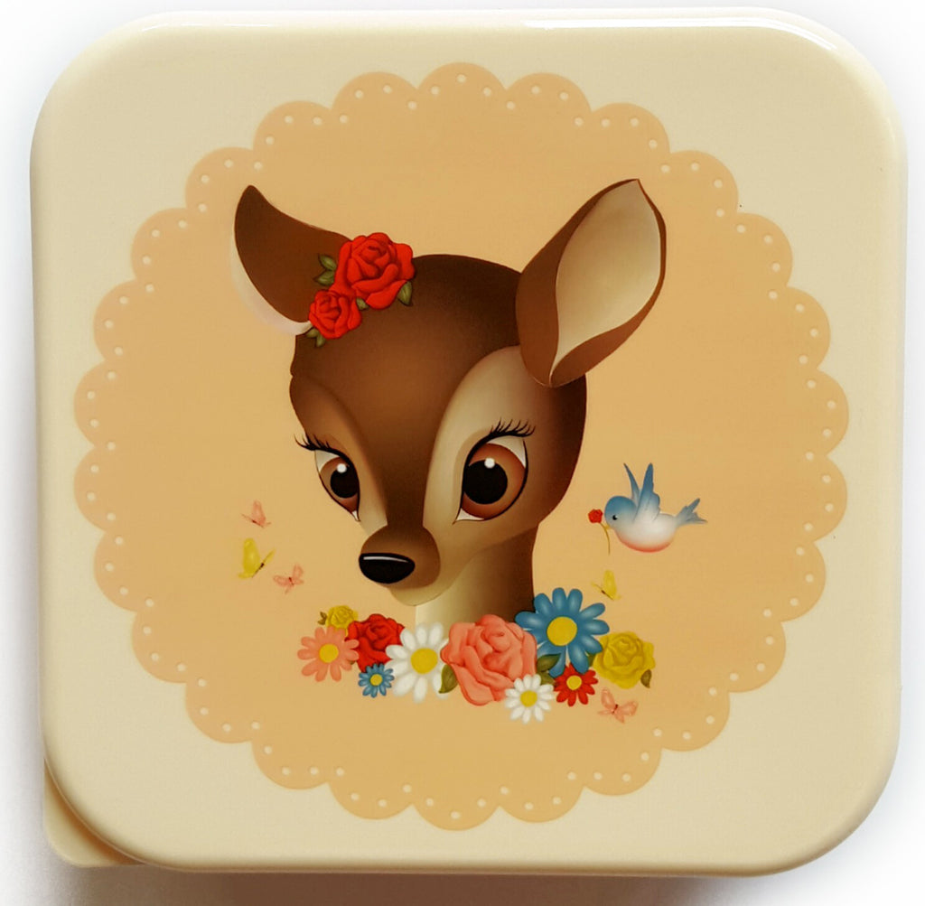 Vintage Inspired Lunch Box - Fawn