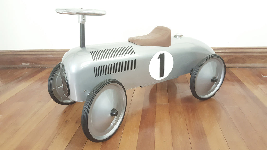 Retro Metal Speedster Car - Silver