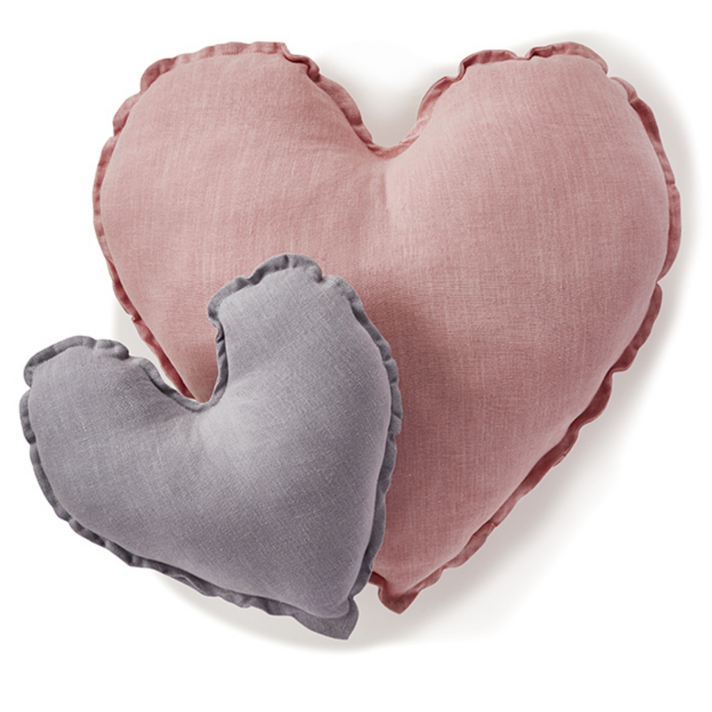 Heart Cushion - Dove Grey 25cm