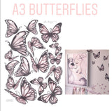 Original Butterfly Fabric Wall Decals