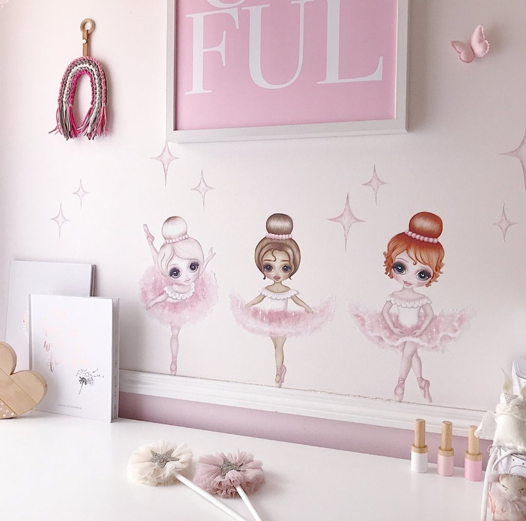 Ruby the Ballerina Fabric Wall Decals