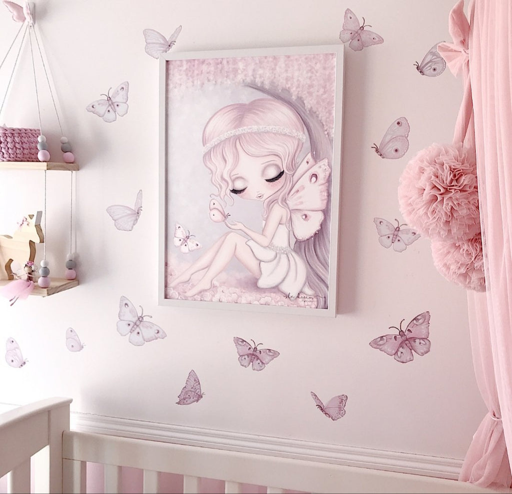 Fairy Magic Butterfly Fabric Wall Decals