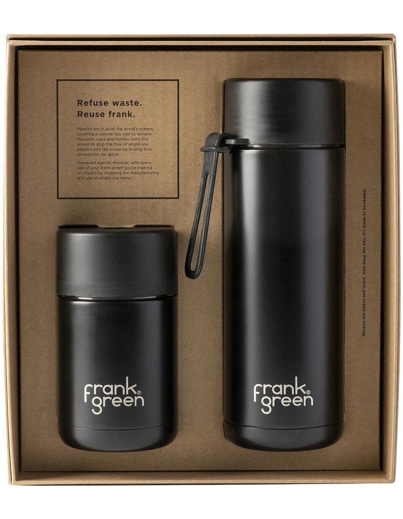 Ceramic Gift Set - Black (Straw Lid)