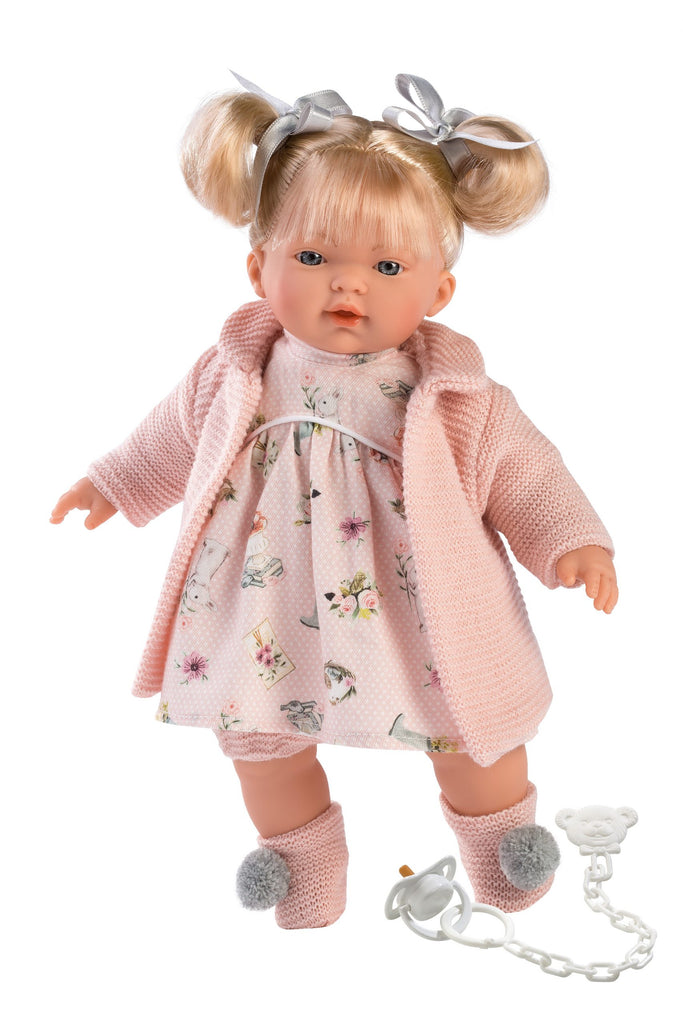Llorens Doll Clothing - Pink Floral & Dots