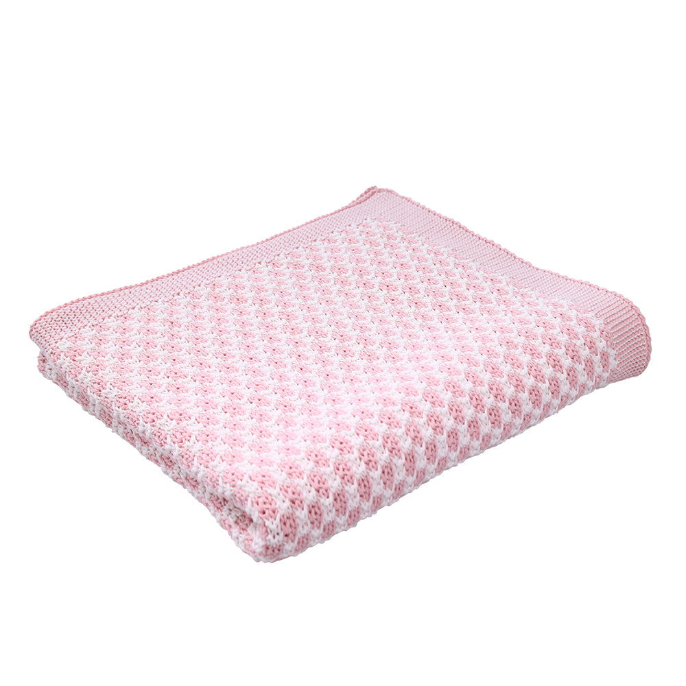 Cradle Cotton Knit Cot Blanket - Blossom