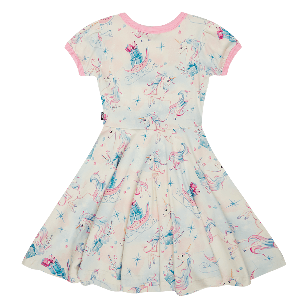 Unicorn Christmas Waisted Dress