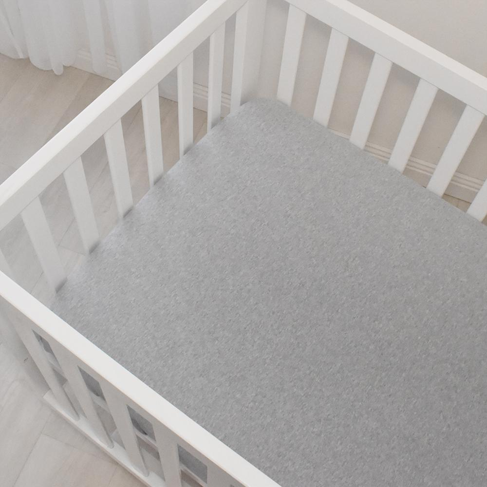 Jersey Fitted Cot Sheet - Grey