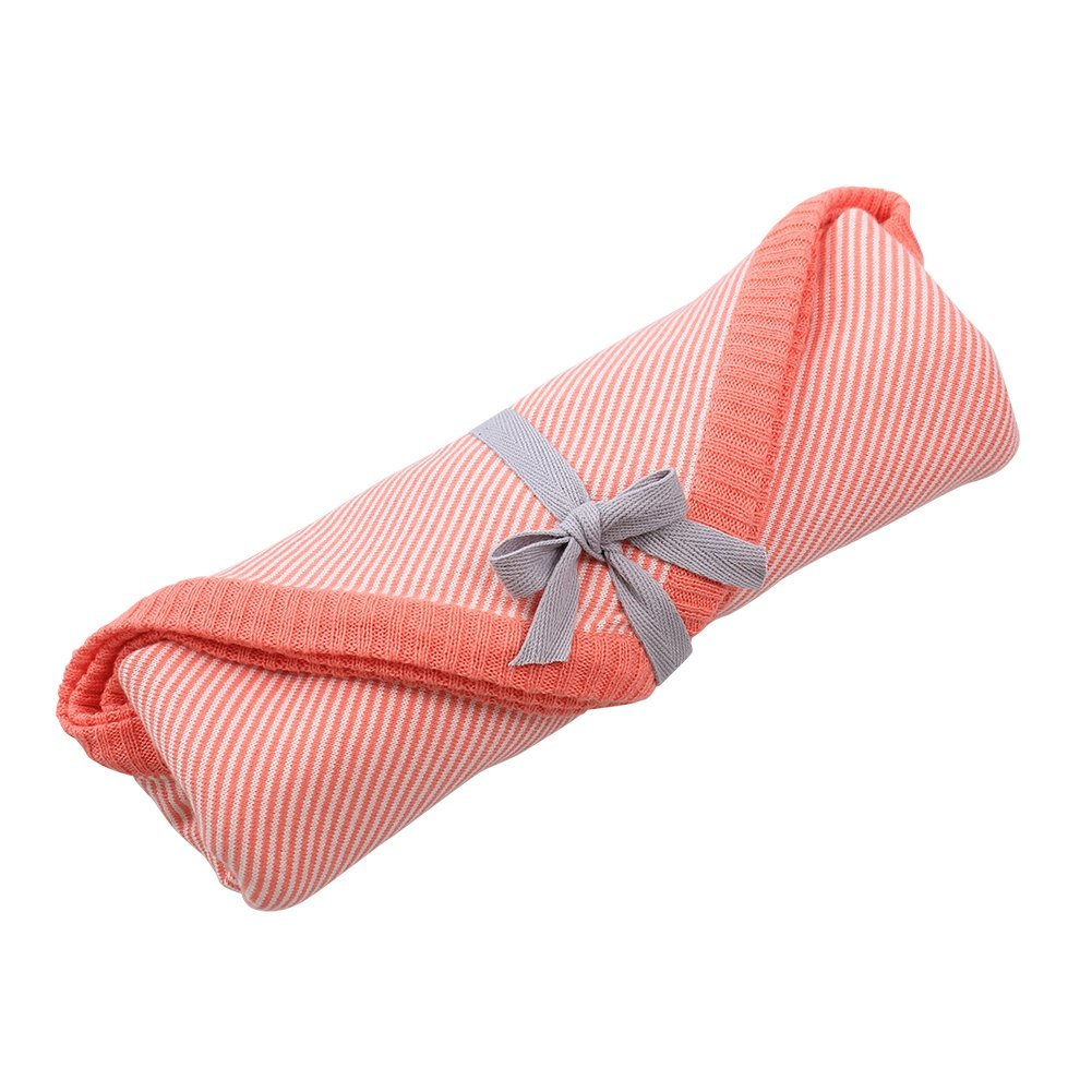Linus Cotton Jersey Newborn Wrap - Coral