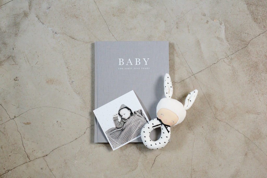 Grey Baby Journal - Birth To Five Years