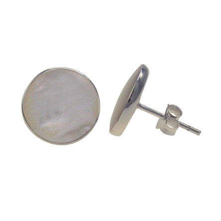 Sterling Silver Mother Of Pearl Stud