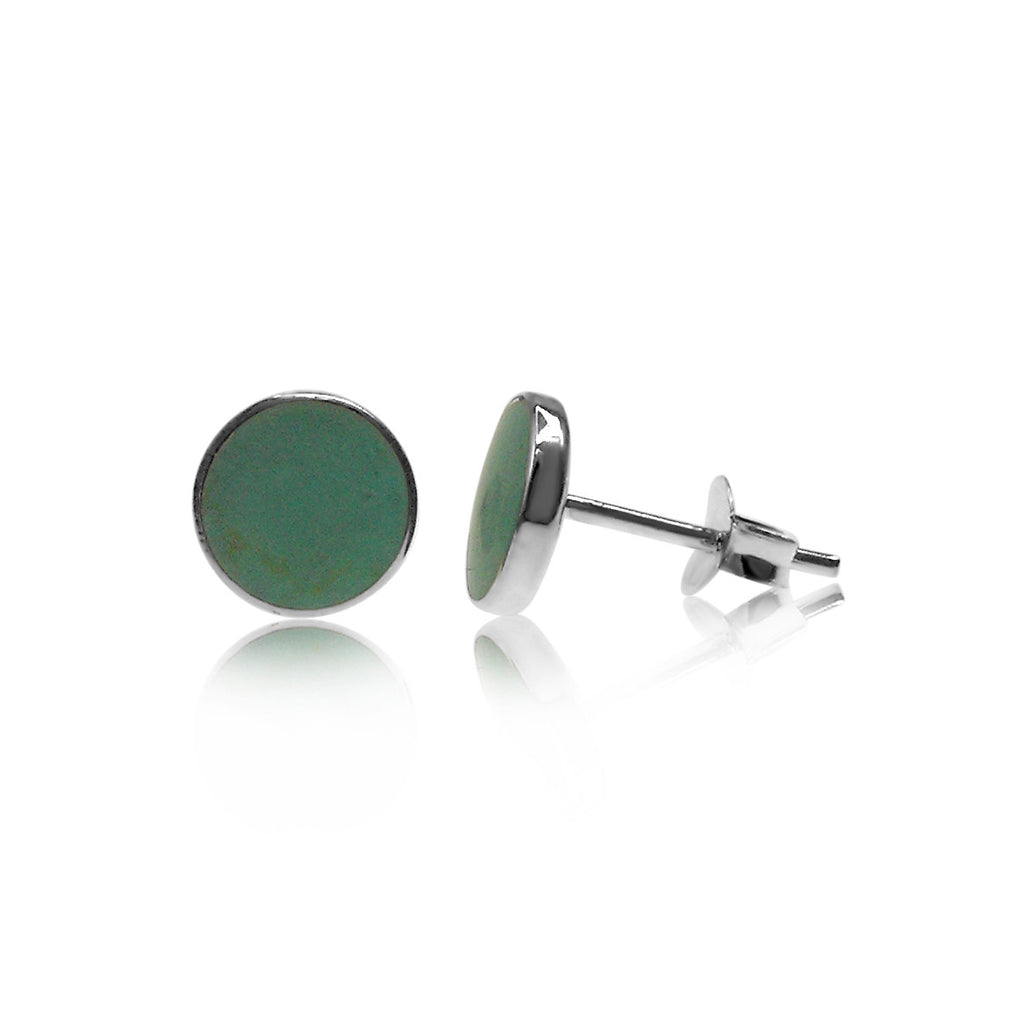 Sterling Silver Turquoise Stone Stud