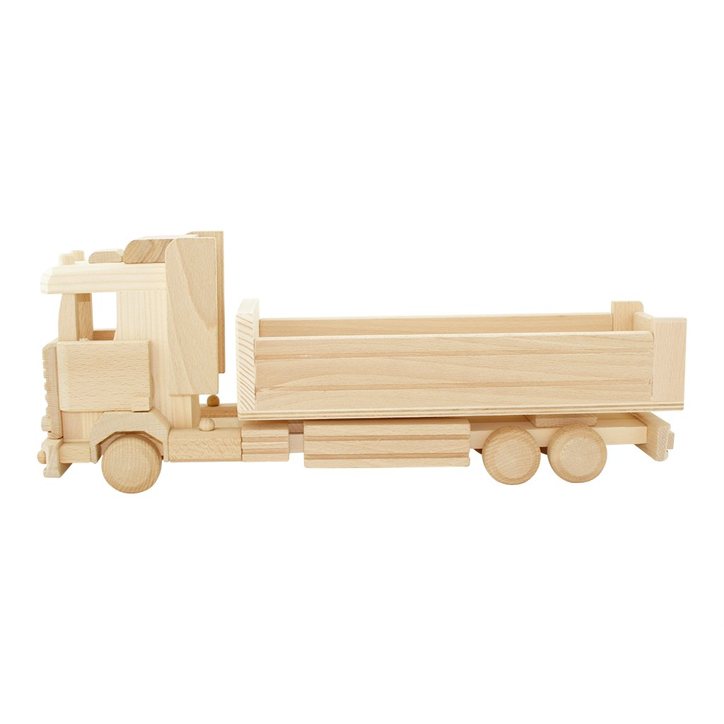 Large Wooden Toy Truck With Tray - Wesley