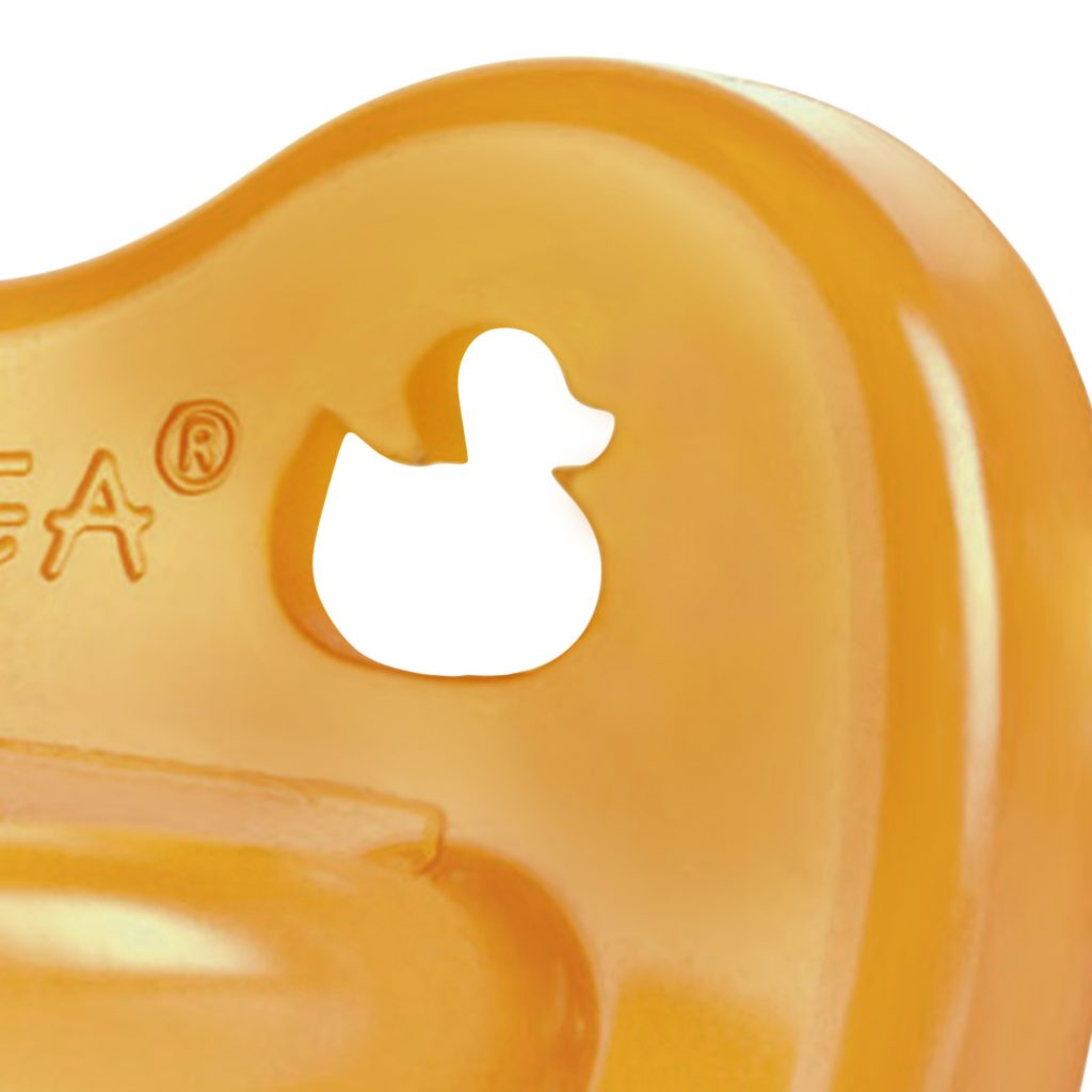 Hevea Duck Pacifier  - Symmetrical