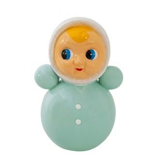 Retro Tumble Doll Money Bank - Mint