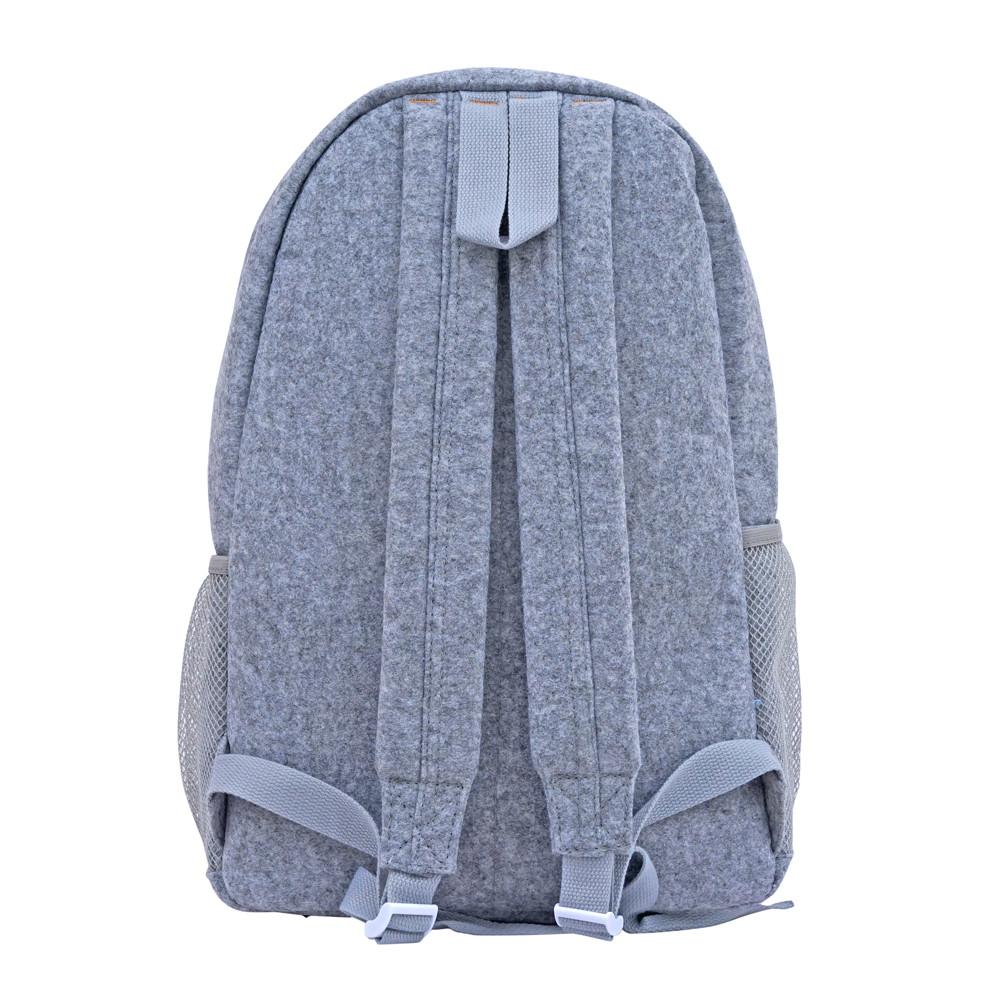 Grey Felt Maxi Backpack