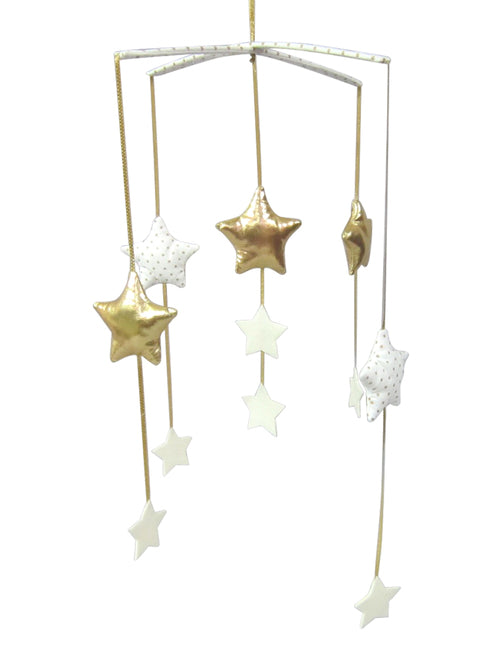 Falling Star Mobile - Gold & Ivory