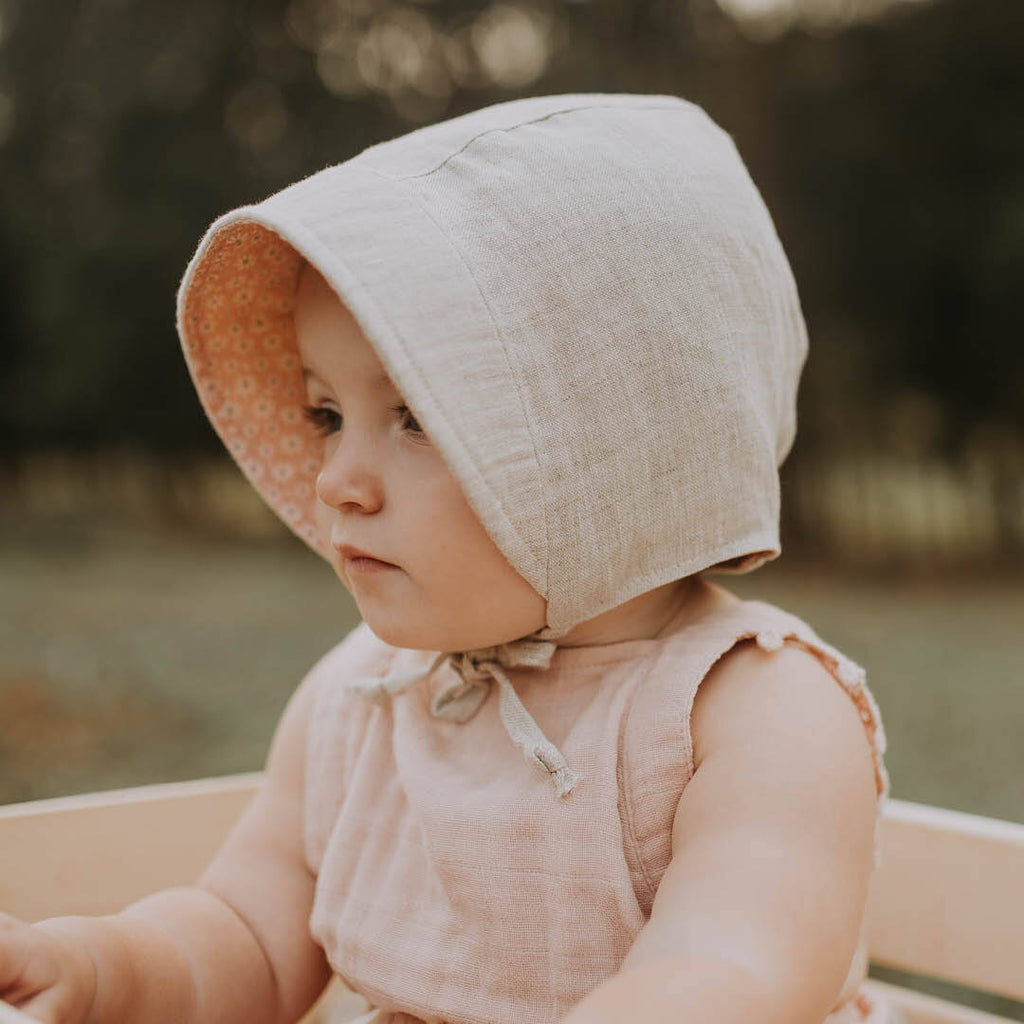 Reversible Sun Bonnet - Polly/Flax