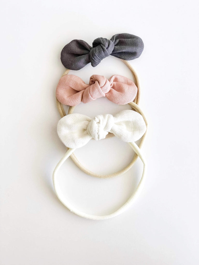 Anna Baby Bow - Dark Grey