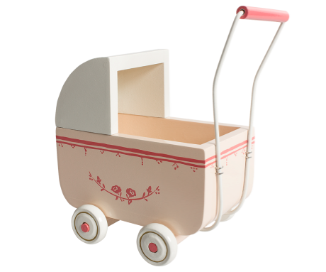 Maileg Micro Wooden Pram - Powder
