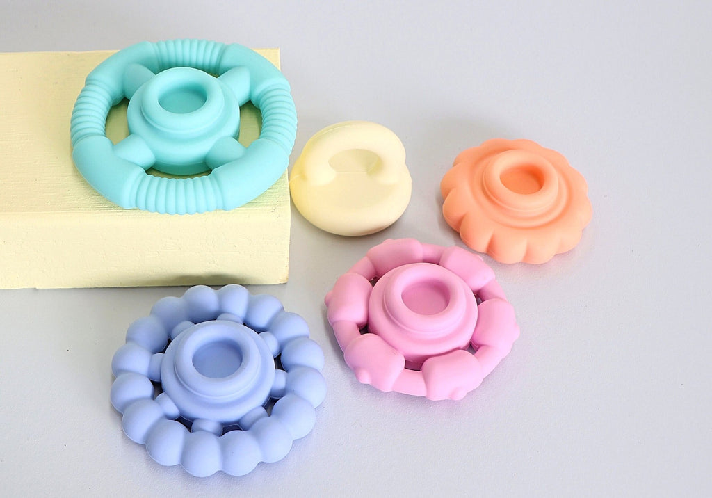 Rainbow Stacker & Teether Toy - Pastel