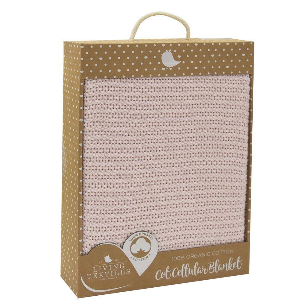 Organic Cotton Cellular Blanket - Rose Quartz