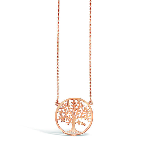 Sterling Silver & Rose Gold, CZ Pendant 2cm