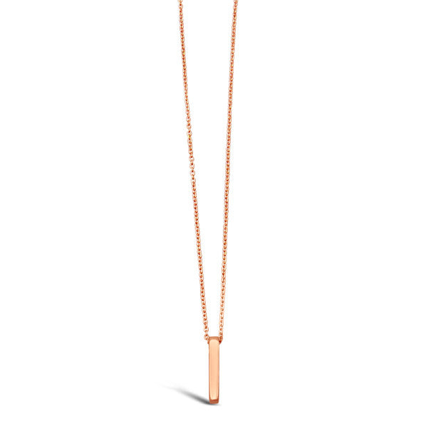 Sterling SIlver, Rose Gold Stick Necklace