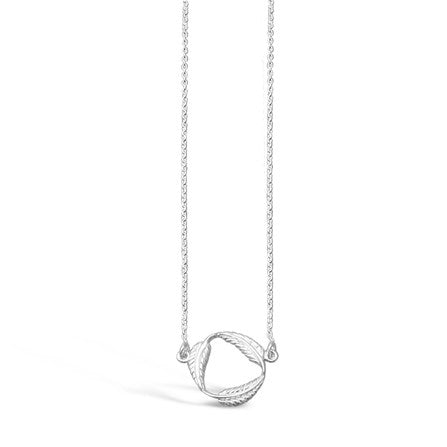 Sterling Silver Circle Of leaves Necklace