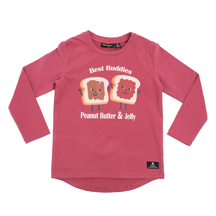 Peanut Butter & Jelly LS Boys T-Shirt