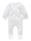 Premi Zip Growsuit - Pink Spot