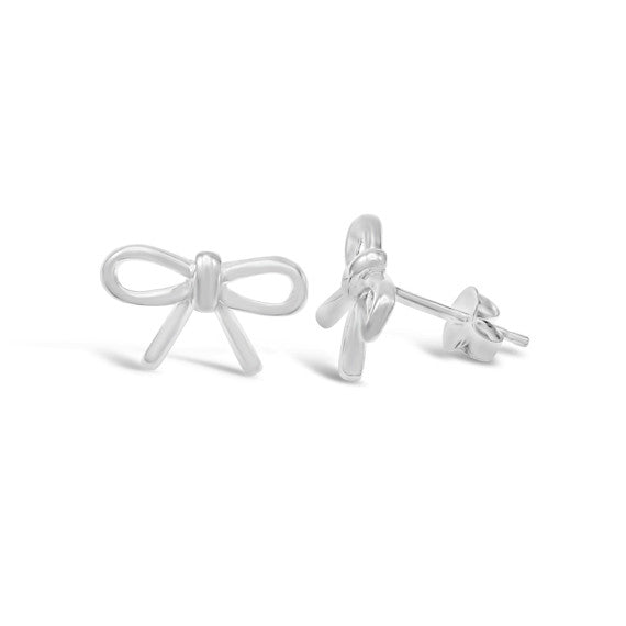 Sterling Silver Bow Studs