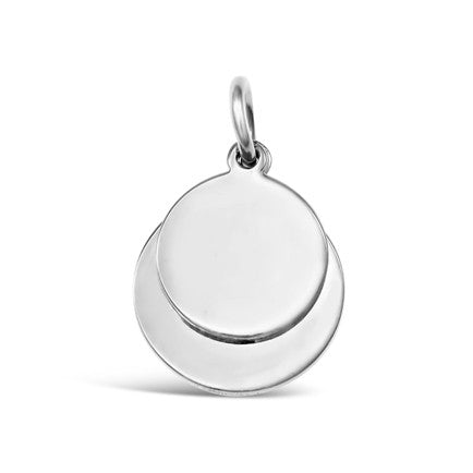 Sterling Silver Round Pendants 2.5cm
