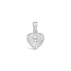 Sterling Silver Angel Heart Pendants 1.8cm