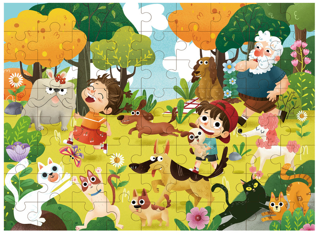 Pet Park Jigsaw Puzzle 72PCS