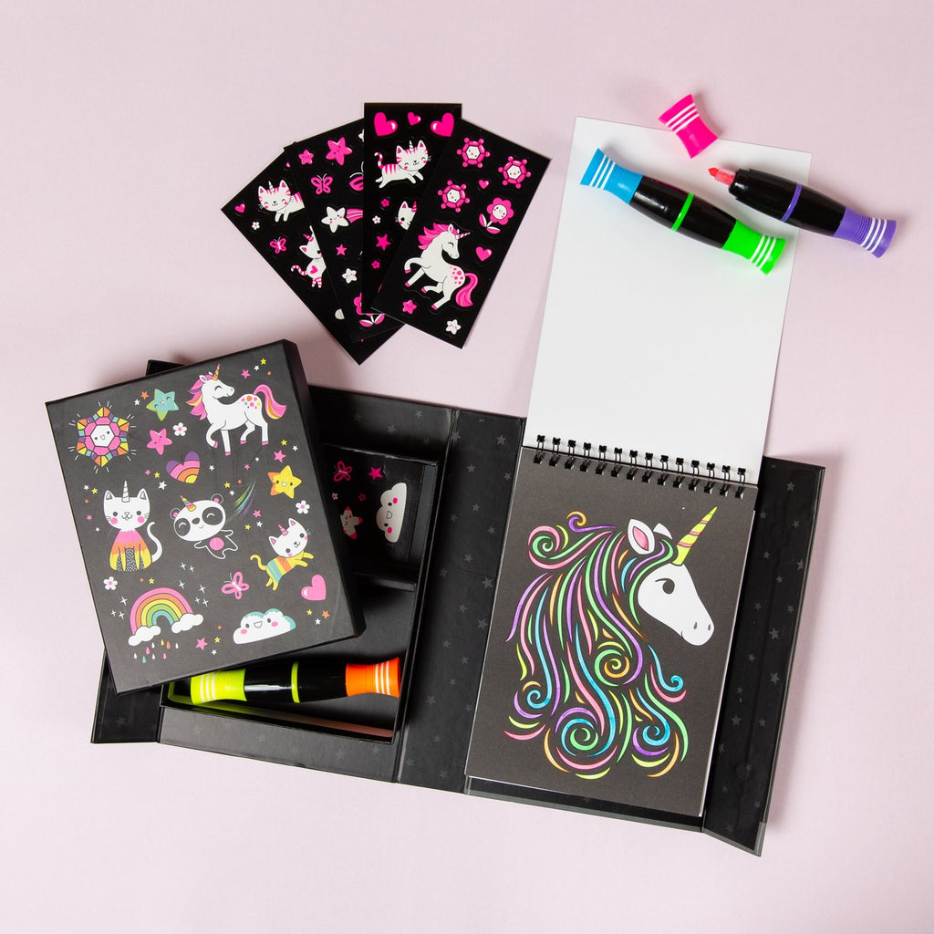 Neon Colouring Set - Unicorn and Friends
